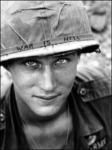 U.S. soldier during the Vietnam war.