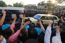Protestors Clash with Royal Motorcade